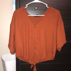 Forever 21 burnt orange tie top